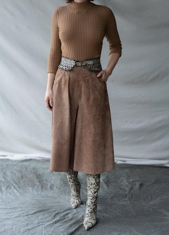70s suede culottes - image 1