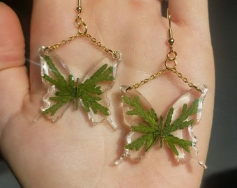 Botanical Resin Nature Monarch Earrings