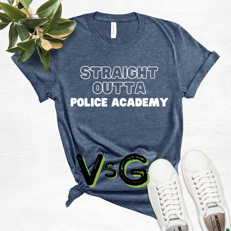 Straight Outta Police Academy Written Funny Designed T-Shirt  Class Of 2021 Shirt  2021 Graduation Tee  Out Of School Shirt  Police Grad