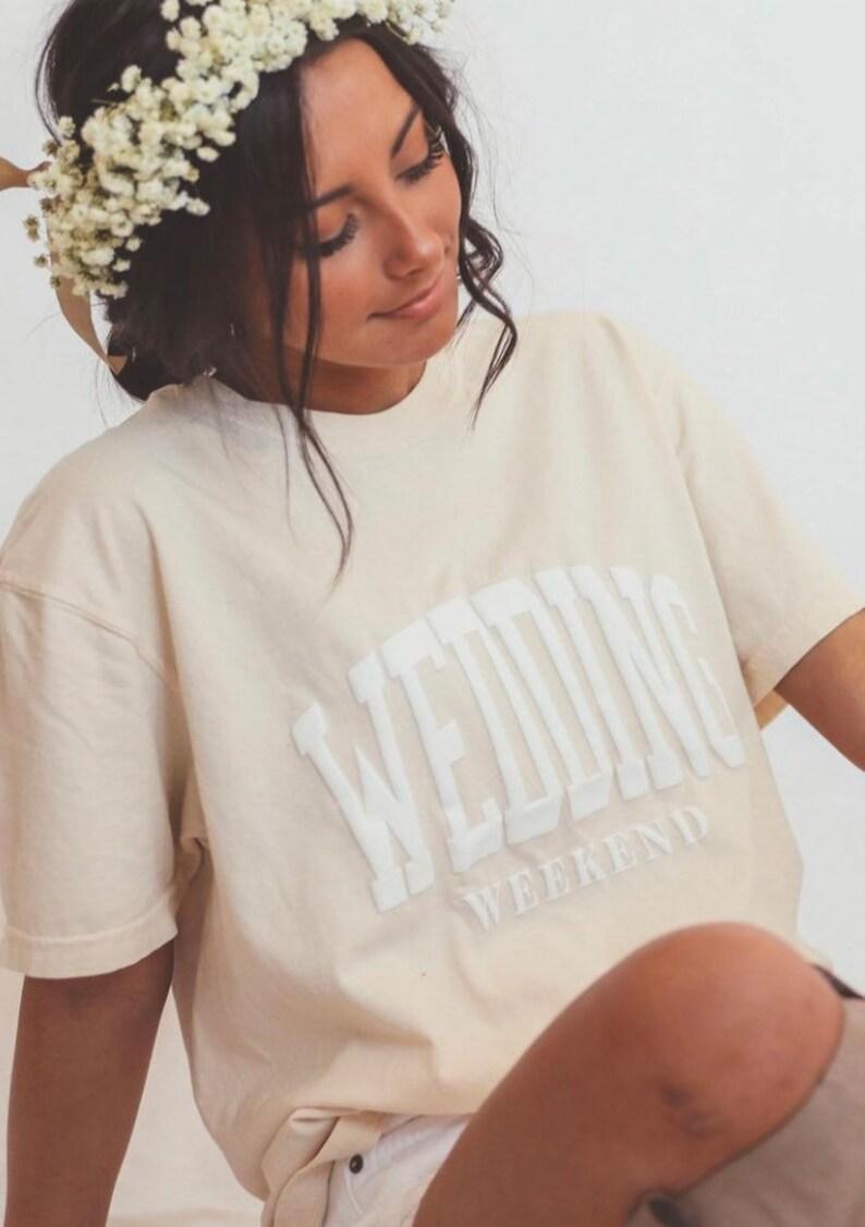 unisex Graphic Tee Wedding Weekend Graphic Tee Bride Tshirt
