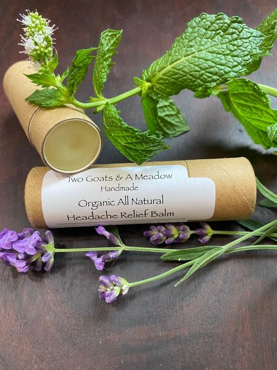 Organic Headache Relief Balm All Natural Eco Friendly Biodegradable