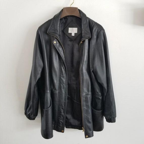 Vintage Worthington Men's Black Leather Jackets