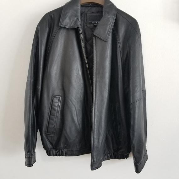 Vintage Bill Blass Men's Black Leather Jackets