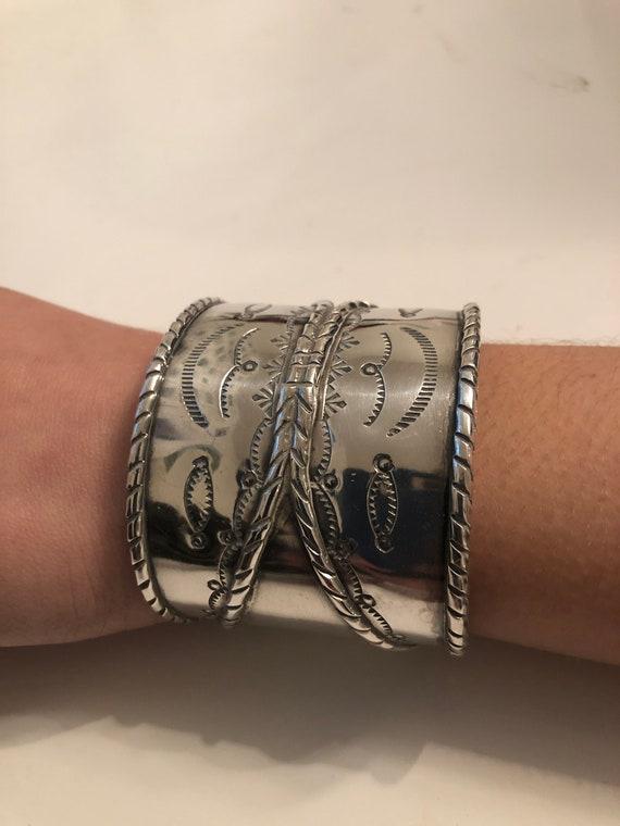 Sterling Silver Vintage Navajo Cuff