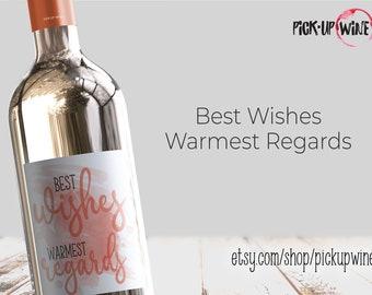 Best Wishes Warmest Regards Wine Label • Parody Schitt's Creek Party Wine •Moira Rose •David Rose