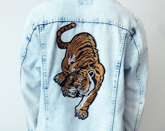 Large tiger patch,iron on patch,embroidered patch,applique, Sew on patch,for jacket,for mask,for backpack,