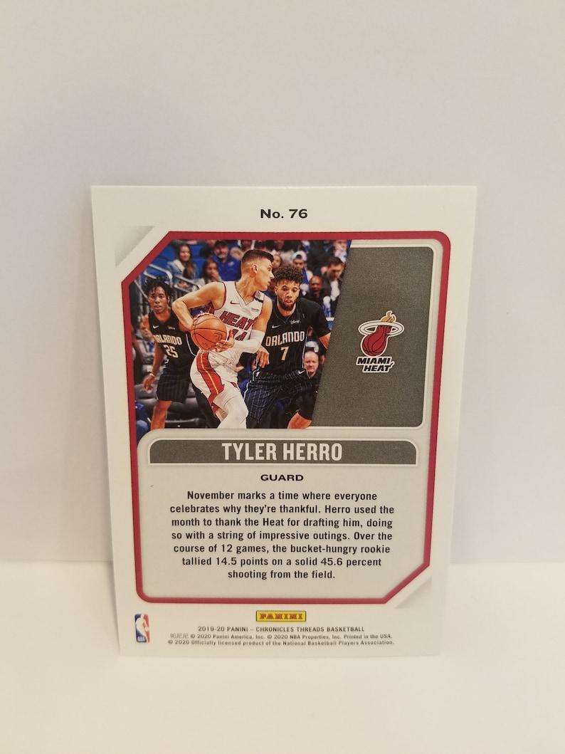 Tyler Herro threads rookie card