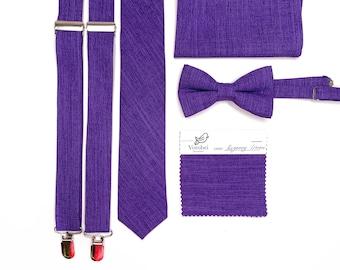 Regency NeckTie / Purple tie / Bow Tie / Suspenders / Pocket Square / Kids necktie / Kids bow tie