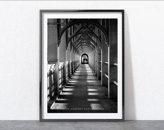 Newcastle High Level Bridge, Black and White Photographic Print, Newcastle Gift, Architecture Art, Wall Print, Home Decor