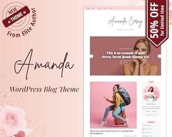 WordPress Blog Theme - WordPress Theme for Bloggers - Feminine WordPress Theme - Blog Theme WordPress - WordPress Template