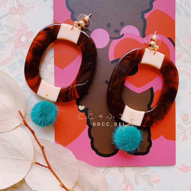 CC Original Design Earrings Handmade High Quality Unique Personality Rounds Only One #113