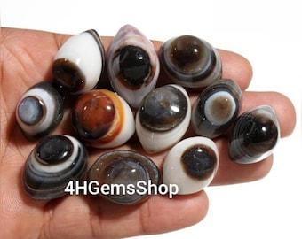 Amazing Black Sardonyx Agate Eye, Natural Eye of Shiva, Eye of Shiva Agate, Ward off Evil Eye, Protection Stone, Third Eye Agate Stone