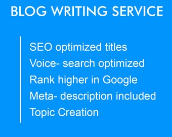 Blog Post Content Writing