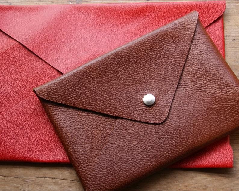 Fine grain Dark Tan Leather A5 Portfolio