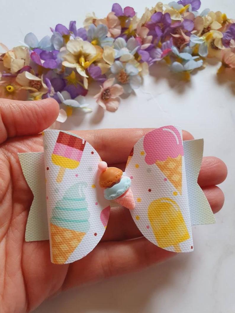 Crocodile clip Ice lolly Summer. Summer Gift Ice cream hair bow