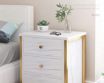 1//2//3 Drawers Modern Bedside Chest Side Table Storage Cabinet with Wood Legs UK