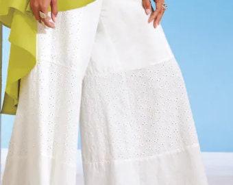 Sustainable fashion Drop crotch capri pant Chiffon bohemian capri Velvet and black silk harem pant