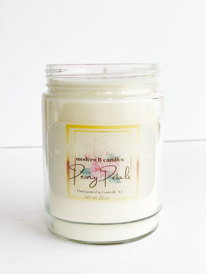 Peony Petalspeony candlefloral candlesoy candlemothers day giftsoy candle