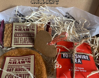 Vegan Yorkshire tea and biscuit letterbox hamper