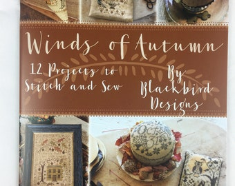 Winds of Autumn 12 projects to Stitch and Sew booklet by Blackbird Designs