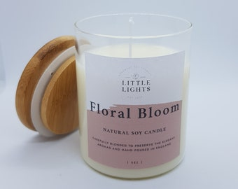 100/% All Natural Iris Candles Love in Full Bloom Love Manifestation Candle with Cherry Blossom and Rose Scent