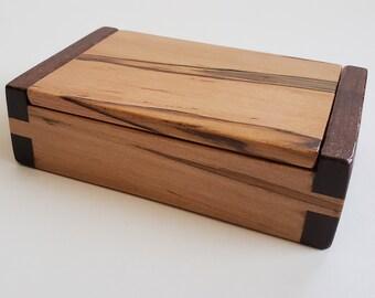 Ambrosia Maple and Black Walnut BizCard/Stash Box