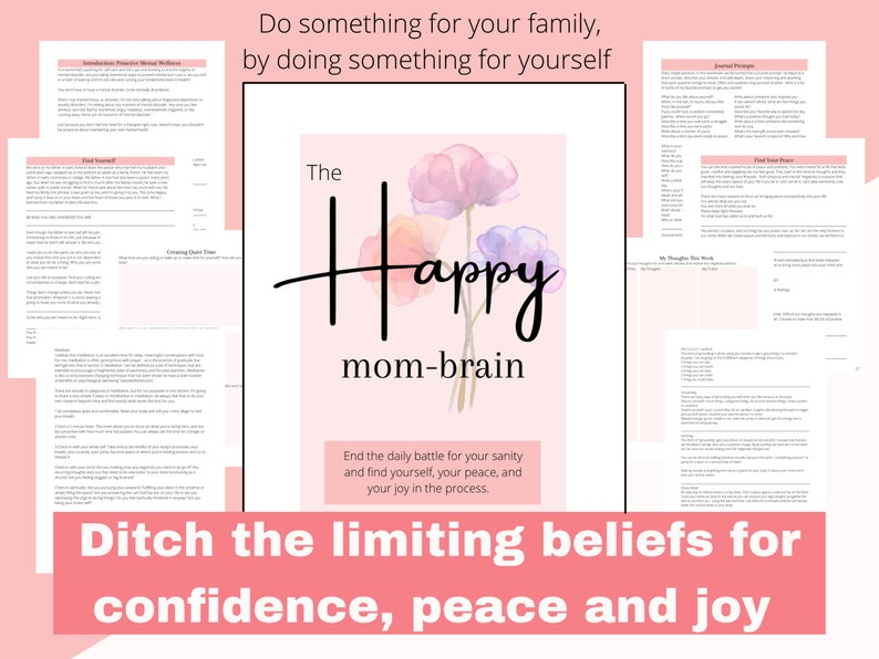The Happy Mom-Brain Guided Workbook: DITCH the limiting image 0