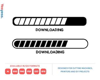 Progress Bar Svg loading cut files Downloading Silhouette Svg Downloading SVG loading progress Loading Bar Svg Loading Clipart Vector