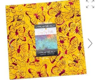 Sunny Day Batiks layer Cake, Fabric by Moda