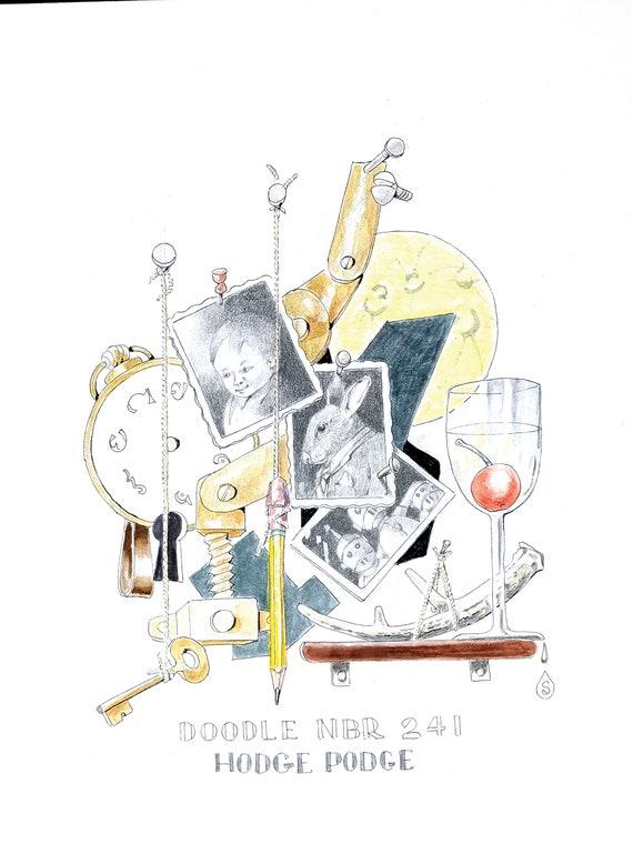 Covid Doodle #168 by Robert Seaman PRINT
