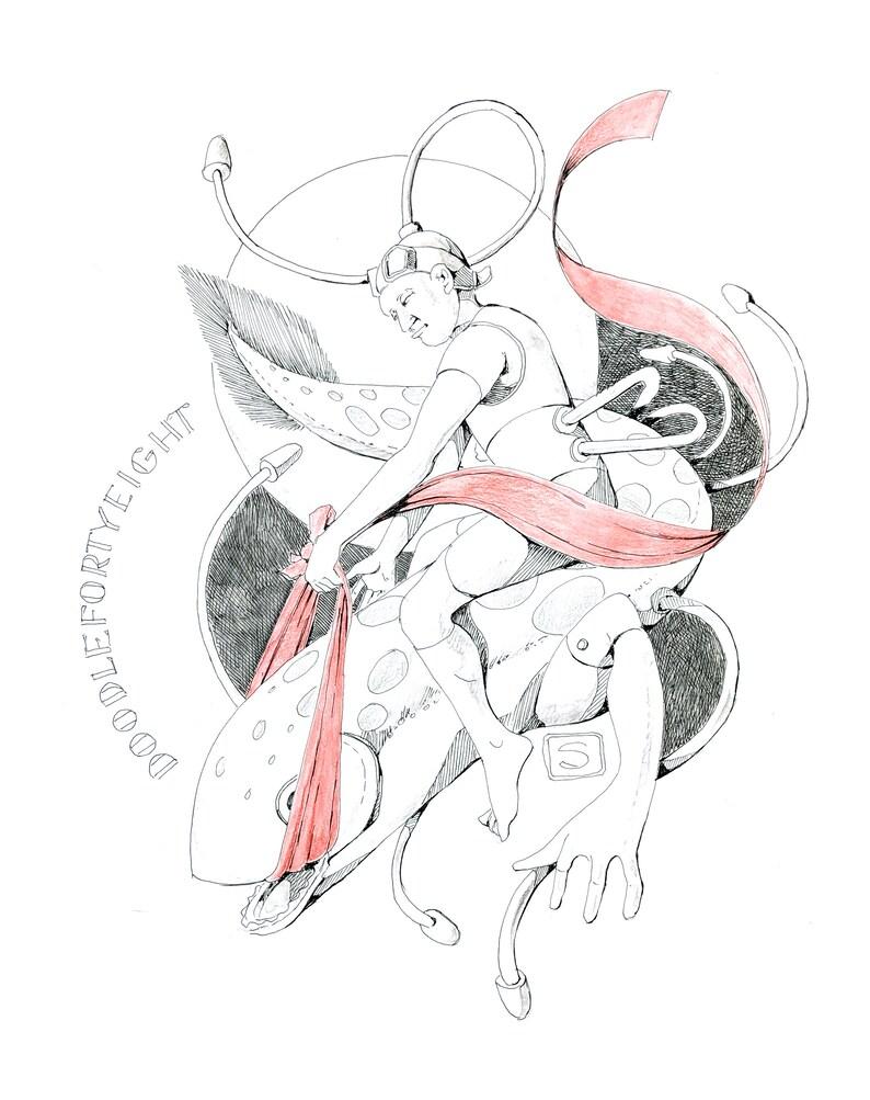 PRINT Covid Doodle #48 by Robert Seaman