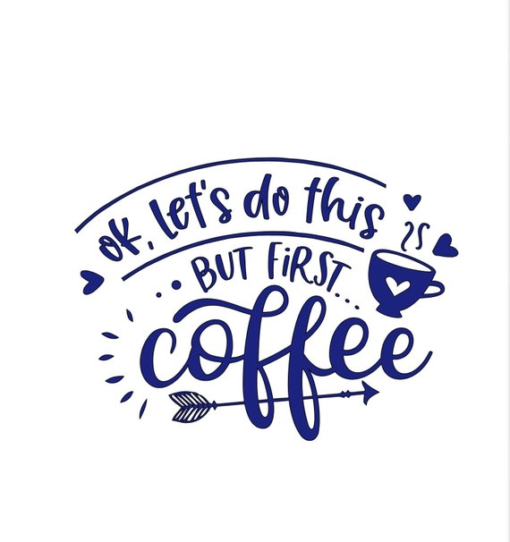 ok, let's do this. But first coffee