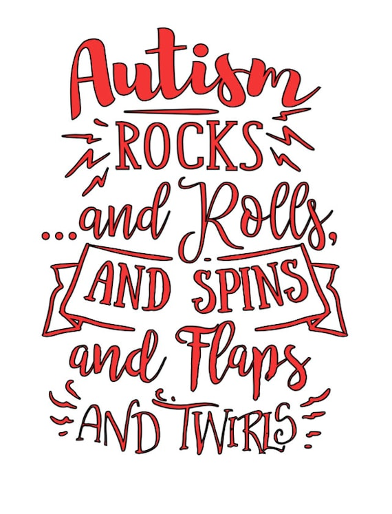 Autism Rocks and Rolls Car Decal