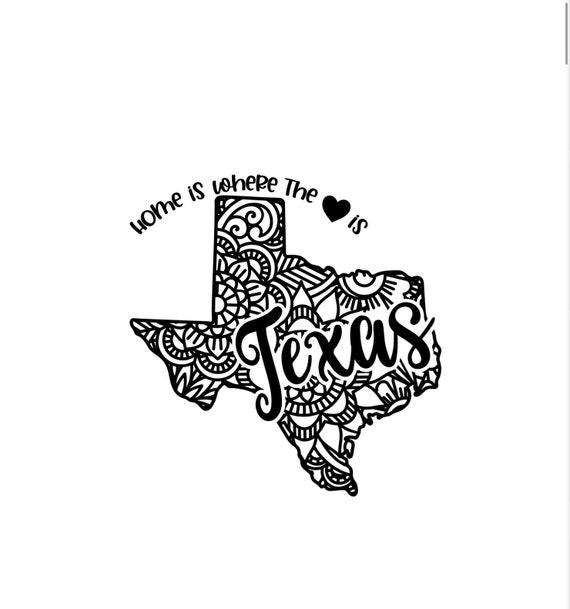 Texas State Mandala Car Decal