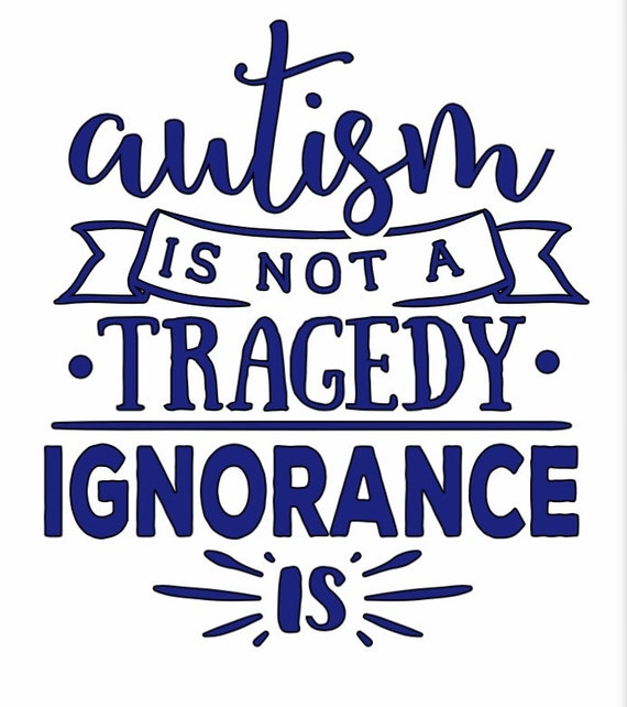 Autism Is Not a Tragedy Car Decal