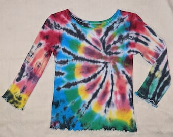 Tie-Dye Leggings Size 4T Rainbow Striped Hand Ice-Dyed Toddler Embossed Stars Galaxy Old Navy