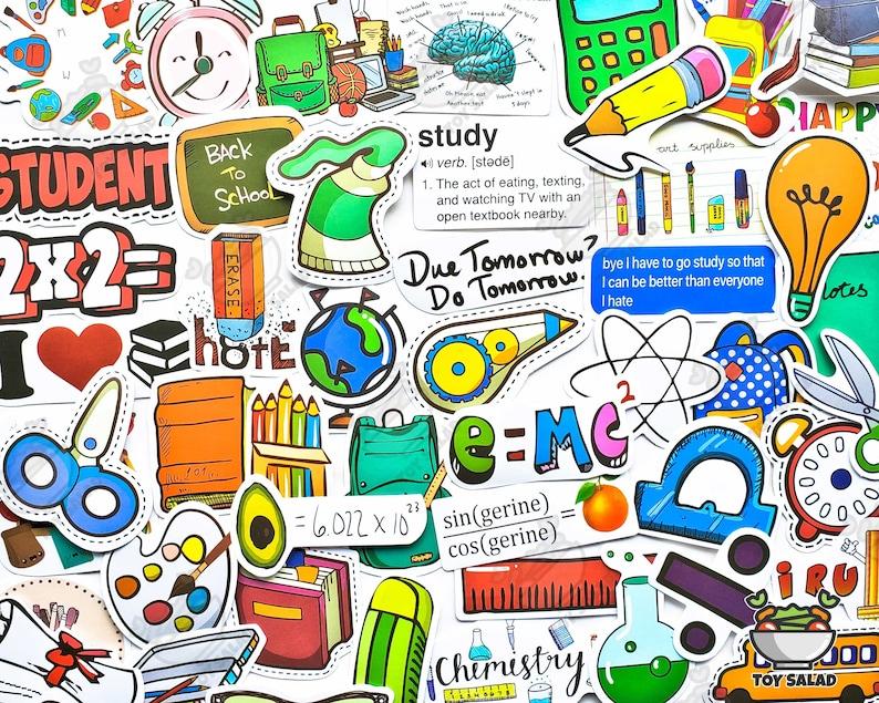 Scrapbooking DIY Notebook Graduation 50 pcs School Supplies Sticker Pack Vsco Sticker Chemistry Stationery sticker Scissor