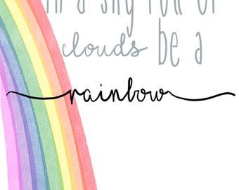 Rainbow Cloud print
