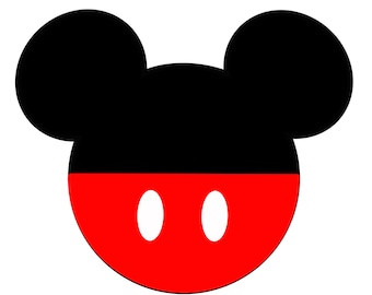 Disney Inspired Mickey Head Digital Prints Banner Decoration Printable Digital Download Flags Wallpaper Screen Saver - FILE EMAILED to YOU