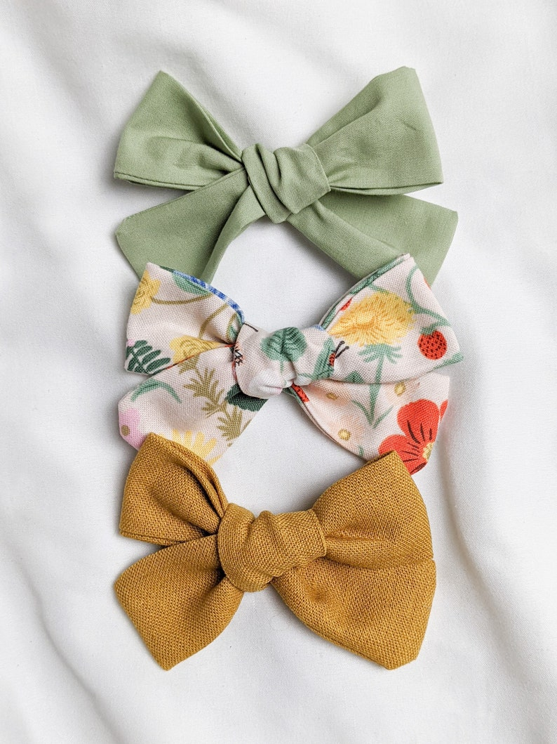 Summer Collection Baby Accessories Strawberry Fields Baby Bows Hair Bows