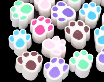 Unbaked Dog Paw Print polymer cane. Raw uncured Puppy Dog Paw Print polymer clay cane