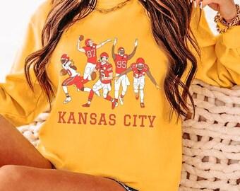 Kansas City Chiefs Crewneck - Vintage Football Sweatshirt - Retro Patrick Mahomes Apparel