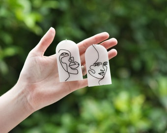 Feminine Contour Line Drawing Statement Earrings