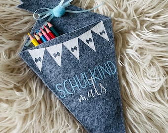 Personalized felt   Schoolchild   Gift   Start of school   by name   Cash gift   Girls   boy