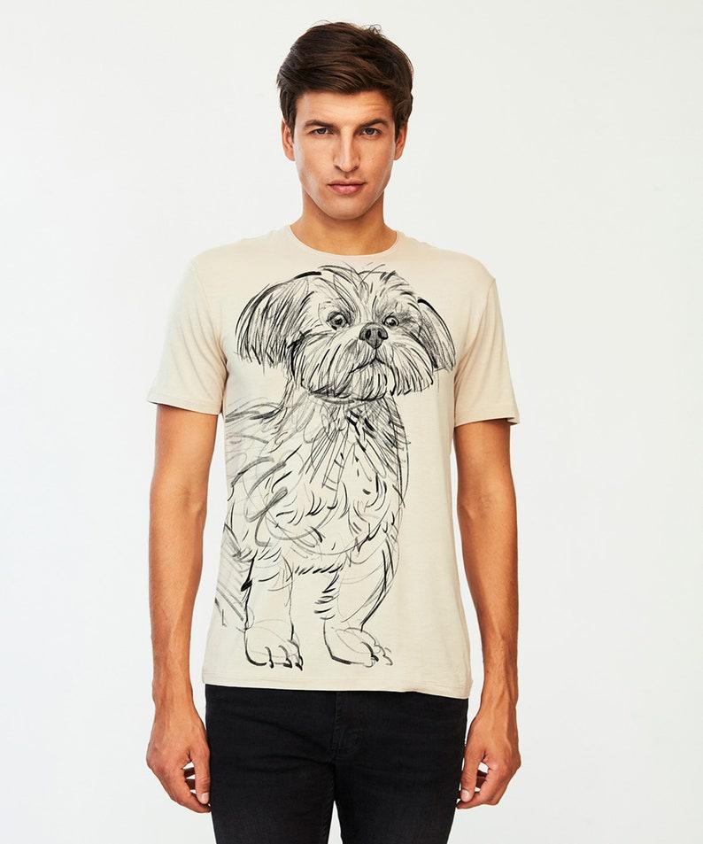 Shirt for Shih Tzu lover Shih Tzu Dog T-shirt Man Shirt for dog owner Premium quality viscose Dogs Shirt for dog lover Gift for him