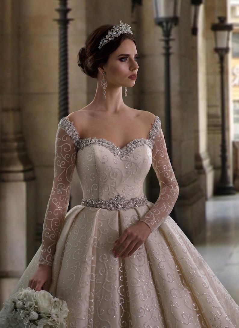 Royal Wedding DressA-Line Wedding DressPrincess Wedding image 1