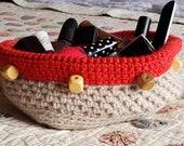 Handmade Crochet Basket (21-002)