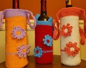 Crochet Wine Bottle Case