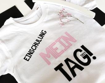 "Children's shirt ""My Day 2021!"", T-shirt for schooling,"