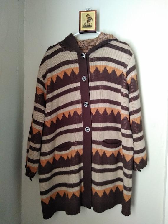 "1970s ""Cowichan"" Style Sweater"